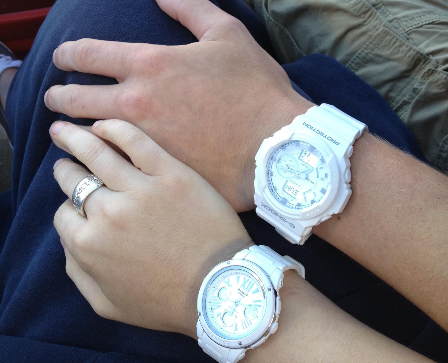 Đốn tim các cặp tình nhân bằng cặp đôi đồng hồ màu trắng dễ thương