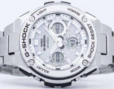 Giới thiệu đồng hồ Casio G-Shock GST-S110D-7A phiên bản mặt trắng viền bạc
